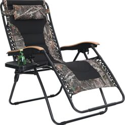 PHI VILLA Camouflage Oversize XL Padded Zero Gravity Lounge Chair Wide Armrest Adjustable Recliner with Cup Holder